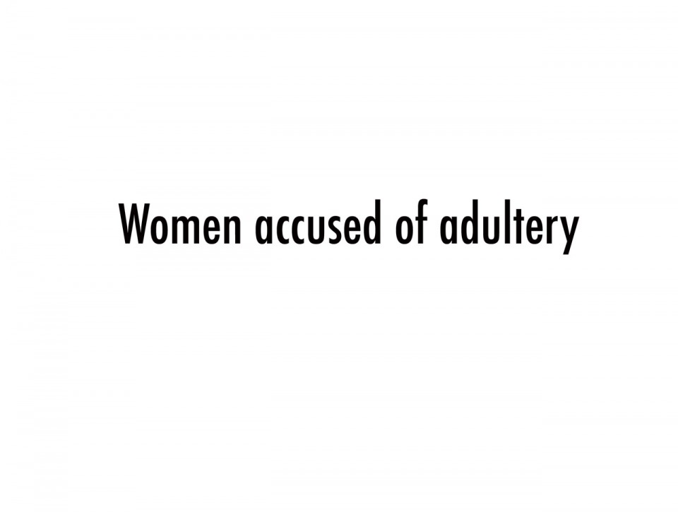Women accused of adultery pr site