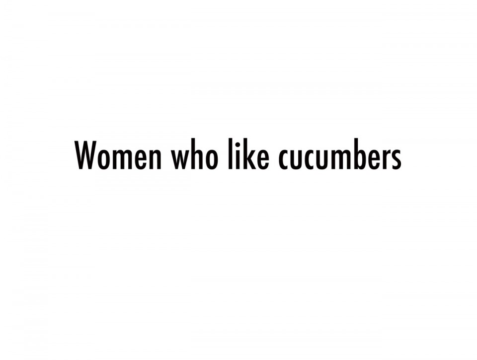 Women who like cucumbers pr site