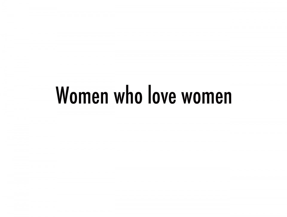 Women who love women pr site