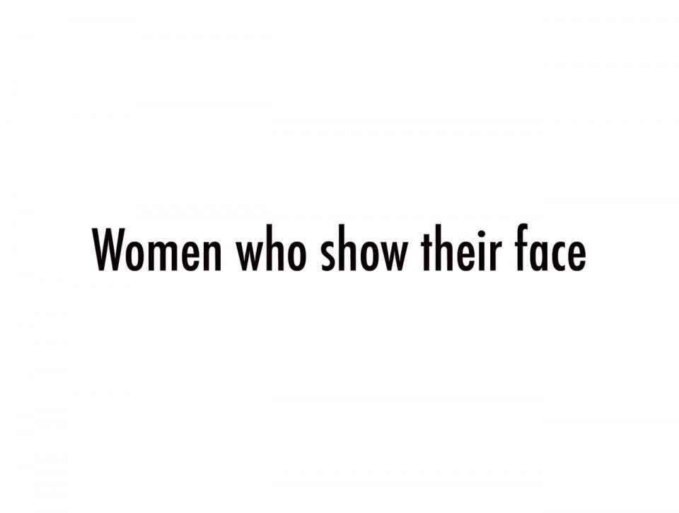 Women who show their face pr site